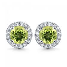 peridot stud earrings the rainbow jewelry 2 0ct genuine peridot august