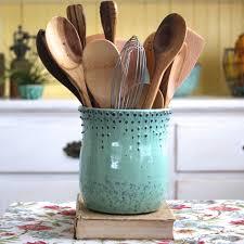 Kitchen Utensil Design by Large Kitchen Utensil Holder Ceramic Utensilkitchen Crock Blue