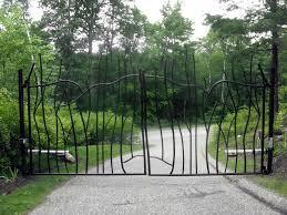 custom ornamental iron driveway gate with faac operating system