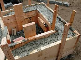 Poured Concrete Home by How To Make A Concrete Fire Feature How Tos Diy