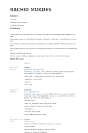 Example Of Resume With Objectives by Packer Resume Samples Visualcv Resume Samples Database