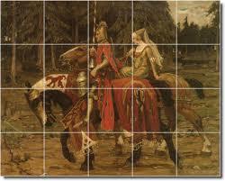 alphonse mucha horses backsplash tile mural 23