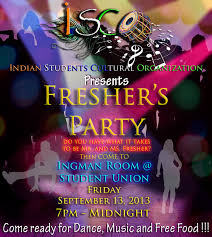 Freshers Party Invitation Cards Design Work Public Relation Officer Indian Student Cultural