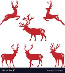 christmas deer christmas deer stags royalty free vector image