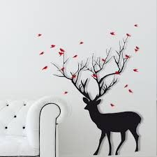 popular deer wall sticker buy cheap deer wall sticker lots from deer wall sticker