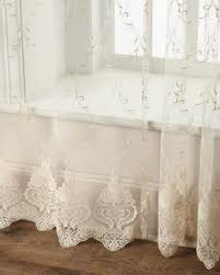 Butterfly Lace Curtains Romantic French Style Curtain Sheers Simply Filtering Light Or