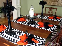 halloween tablecloth it u0027s written on the wall halloween tablescape now some decor