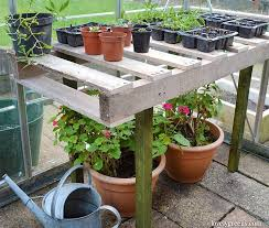 Wooden Potting Benches Diy Pallet Wood Potting Bench Lovely Greens Garden Living And Making