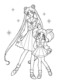 sailor moon coloring pages for kids printable free coloring