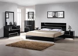 black queen size bedroom sets amazon com j m furniture lucca black lacquer with crystal accents