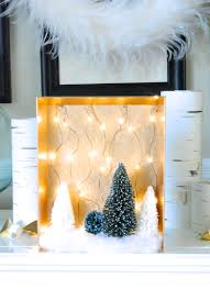 diy christmas woodland fairy light shadow boxes making lemonade