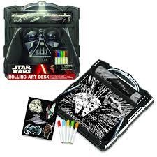 amazon com star wars darth vader rolling art desk play set toys