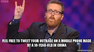 Old Phone Meme - feel free to tweet your outrage on a mobile phone made by a 10