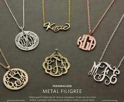 monogram initials necklace monogrammed jewelry and muchael