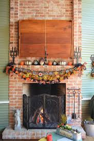 decor for fireplace best ideas for halloween decorations fireplace and mantel