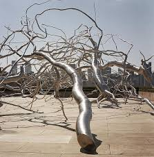 steel trees metro nature