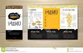 fried fish restaurant menu concept design corporate identity