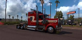 kenworth custom parts kenworth w900 red an cream custom skin mod american truck
