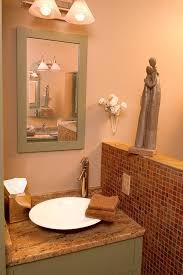 copper slate tile bathroom eclectic with bathroom mirror chrome