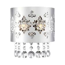Shop Wall Sconces At Lowes by Shop Ashley Harbour Chime 7 8 In W 1 Light Polished Chrome Crystal