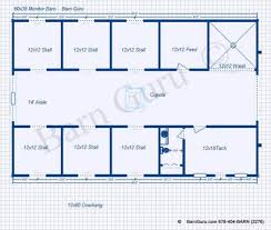 Horse Barn Builders In Florida Horse Barn Plans With Living Quarters 5 Stalls 3 Bedrooms