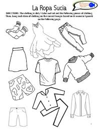 learn names of clothing in spanish worksheets u0026 activity tpt