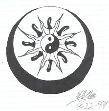 yin yang sun moon tattoo stencil photo 2 real photo pictures