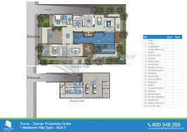 7 bedroom type vd3 t floor plan of akoya trump prvt damac