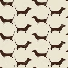 dachshund wrapping paper seamless dachshund background with repeating brown dachshund
