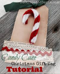 how to make quick and easy candy cane christmas gift tags