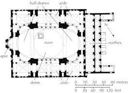 Gothic Church Floor Plan by Plan Hagia Sophia Constantinople Istanbul Anthemius Of