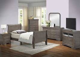 Grey Sleigh Bed American Furniture Design Grey Sleigh Bed Dresser Mirror