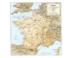 France Political Map by Maps Of France Detailed Map Of France In English Tourist Map