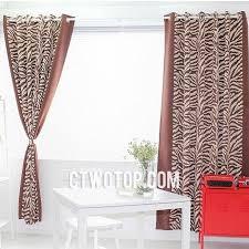 brown modern stylish luxury blackout toile zebra print curtains