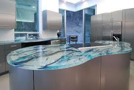 modern kitchen countertops stunningly beautiful blue glass modern kitchen countertop in an