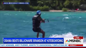 Obama Necker Island Obama Kitesurfs With Virgin Founder Richard B The Daily Caller