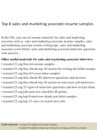 top 8 sales and marketing associate resume samples 1 638 jpg cb u003d1431055339