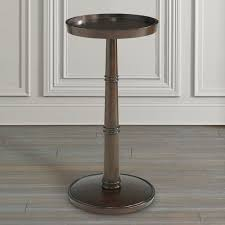 Martini Side Table by Round Drink Table Brown Or Gray Bassett Home Furnishings