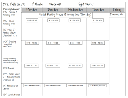 spotted in first grade monday made it lesson plan template