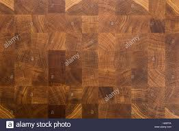 oak wood butcher end grain chopping block board stock photo