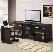 Modern Tv Stands Finish Modern Tv Stand W Slide Out Laptop Caddy