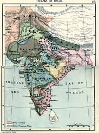 India States Map by India In 1805 Map