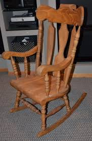 Wood Rocking Chair Tall Wooden Rocking Chair Rocker Yugoslavia