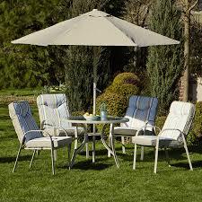 Aluminium Garden Chairs Uk Provence 4 Seater Metal Garden Furniture Set With Parasol Robert