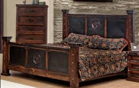 Western Bed Frames King Size Copper Creek Bed Stain Western
