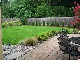 Inexpensive Backyard Landscaping Ideas Simple Backyard Landscape Design Photo Of Well Simple But