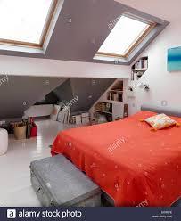 bedroom with velux windows stock photos u0026 bedroom with velux