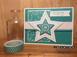 stampin u0027 up paper craft crew 117 many merry stars photopolymer