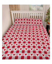 Mickey Duvet Cover Mickey And Minnie Mouse Christmas King Size Duvet Cover Set