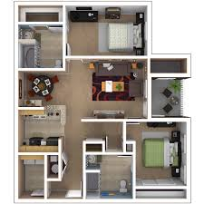Canterbury Floor Plan by Baton Rouge Apartments Floor Plans